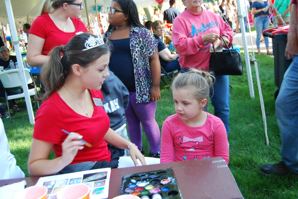 Face Painting with a Royal Ambassador