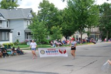 The parade sponsors: Rotary