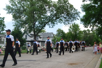 Bugel and Drum Corps in the Parade