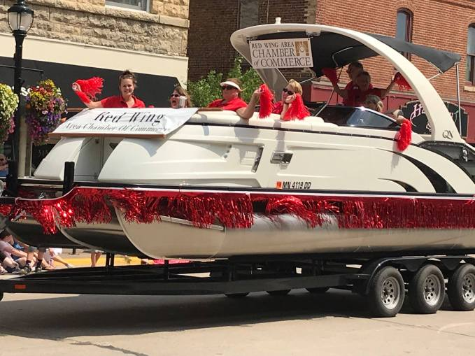 The Red Wing Chamber of Commerce at the Parade