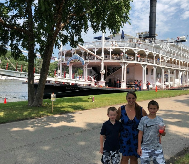 Posing with the Riverboat
